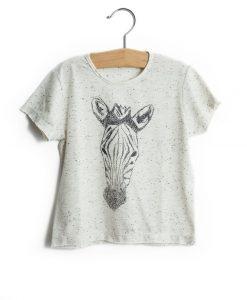 """T-shirt em malha """"Zebra"""""""