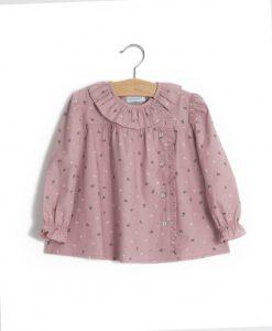 Camisa flores rosa velho