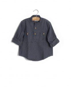 Camisa quadrados azul/cinza