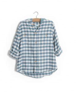 Camisa quadrados verde