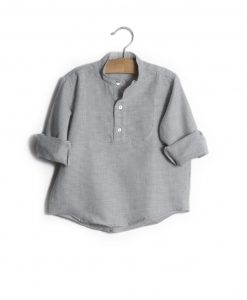 Camisa quadradinhos cinza
